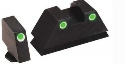 Ameriglo Night Sight Set - Tall Suppressor Style - Green Front / Green Rear - All For Glock Models GL-329