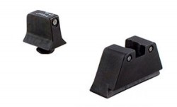 Trijicon For Glock Suppressor Night Sight Set - Black Outline - Green Lamps for Calibers 9mm,.40,.43,.45 G.A.P.,.357 GL201-C-600661