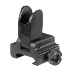 Leapers Utg Low Profile Flip Up Front Sight Aluminum Black